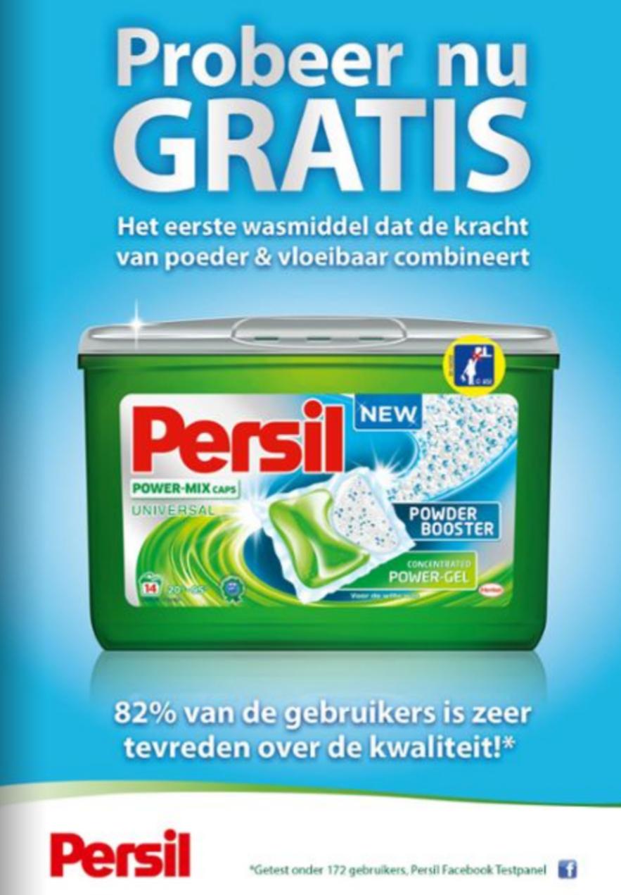 Gratis Persil Power-Mix Caps Universal t.w.v. €6,99 (geld terug) @ Korting is Leuk (vanaf maandag)