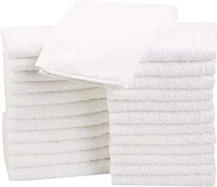 AmazonBasics katoenen washandjes - 24 stuks - wit