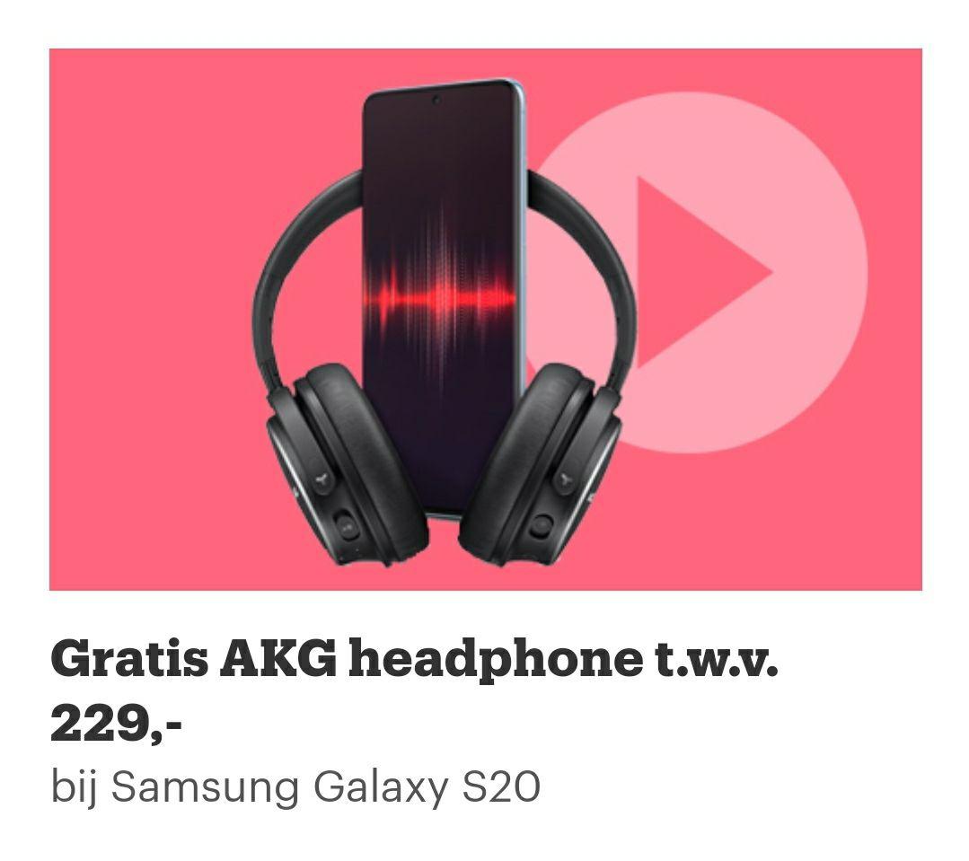 [LEES OMSCHRIJVING] Gratis AKG Y600 noise-cancelling koptelefoon bij een S20