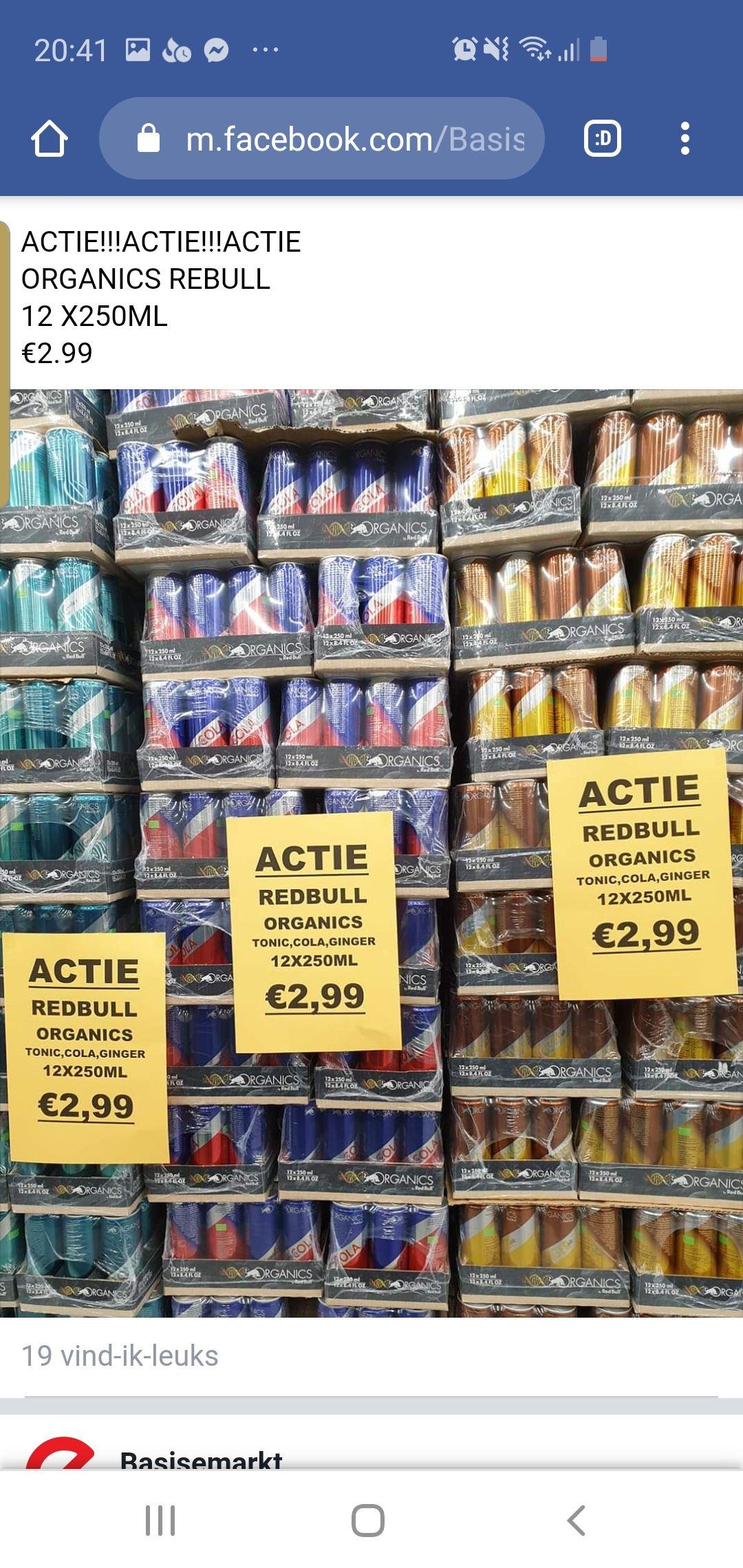 [Lokaal - Rotterdam] Basis E markt Redbull (cola, ginger, tonic) 12 pack €2.99