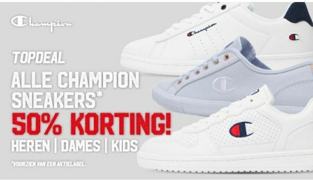 Champion sneakers 50% korting. Nu vanaf €9,99