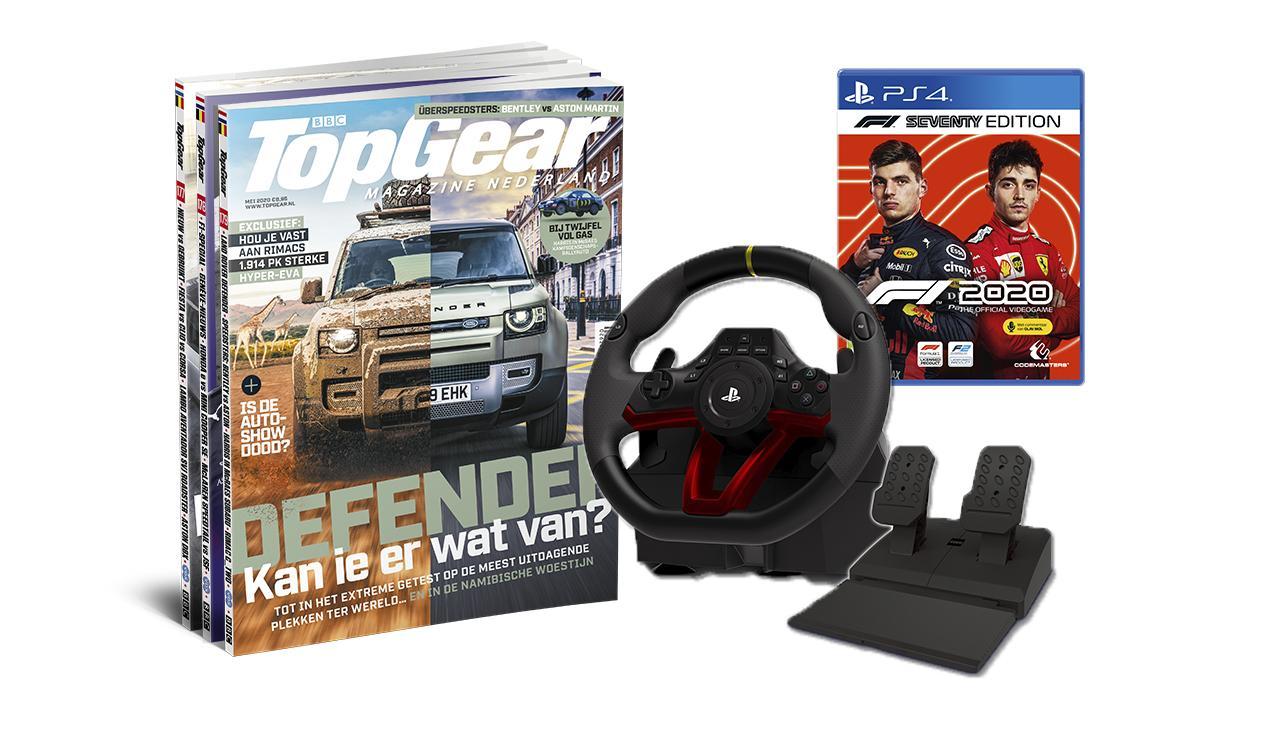 Hori Apex racestuur (PS4/PC) + F1 2020 + 2 jaar TopGear voor €179,95