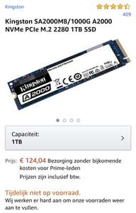 Kingston A2000 1TB NVMe-SSD