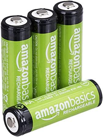 oplaadbare AA-batterijen 2000 mAh / minimum van AmazonBasics: 1900 mAh [pak van 4 stuks]