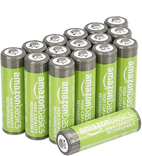 AmazonBasics Voorgeladen Ni-MH AA-batterijen 2400 mAh - 16 stuks