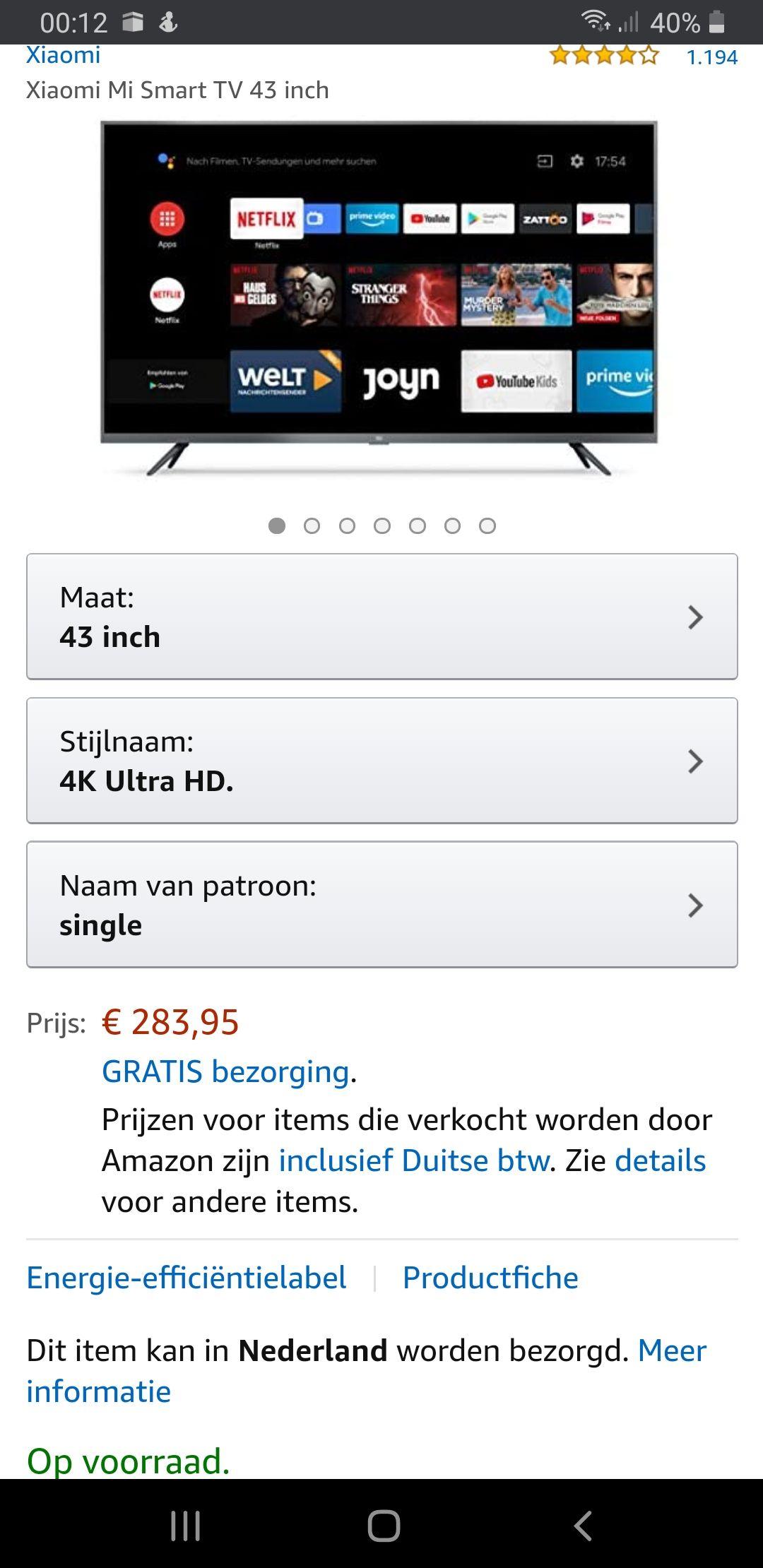 Xiaomi Mi Smart TV 43 inch