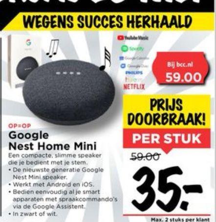 Google Nest Home Mini Vomar 28 mei