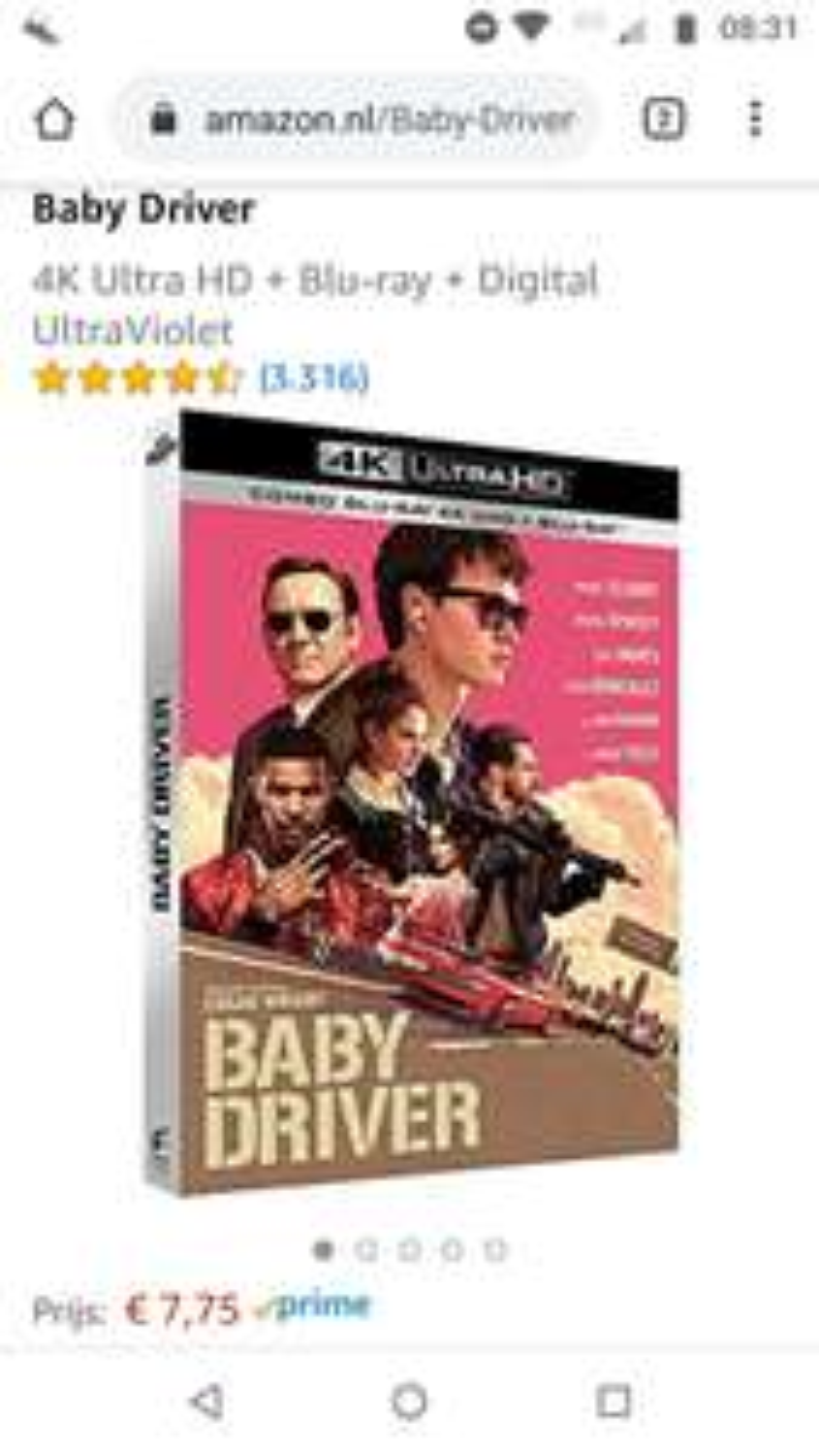 Baby Driver 4K - €7,75 @ Amazon.nl