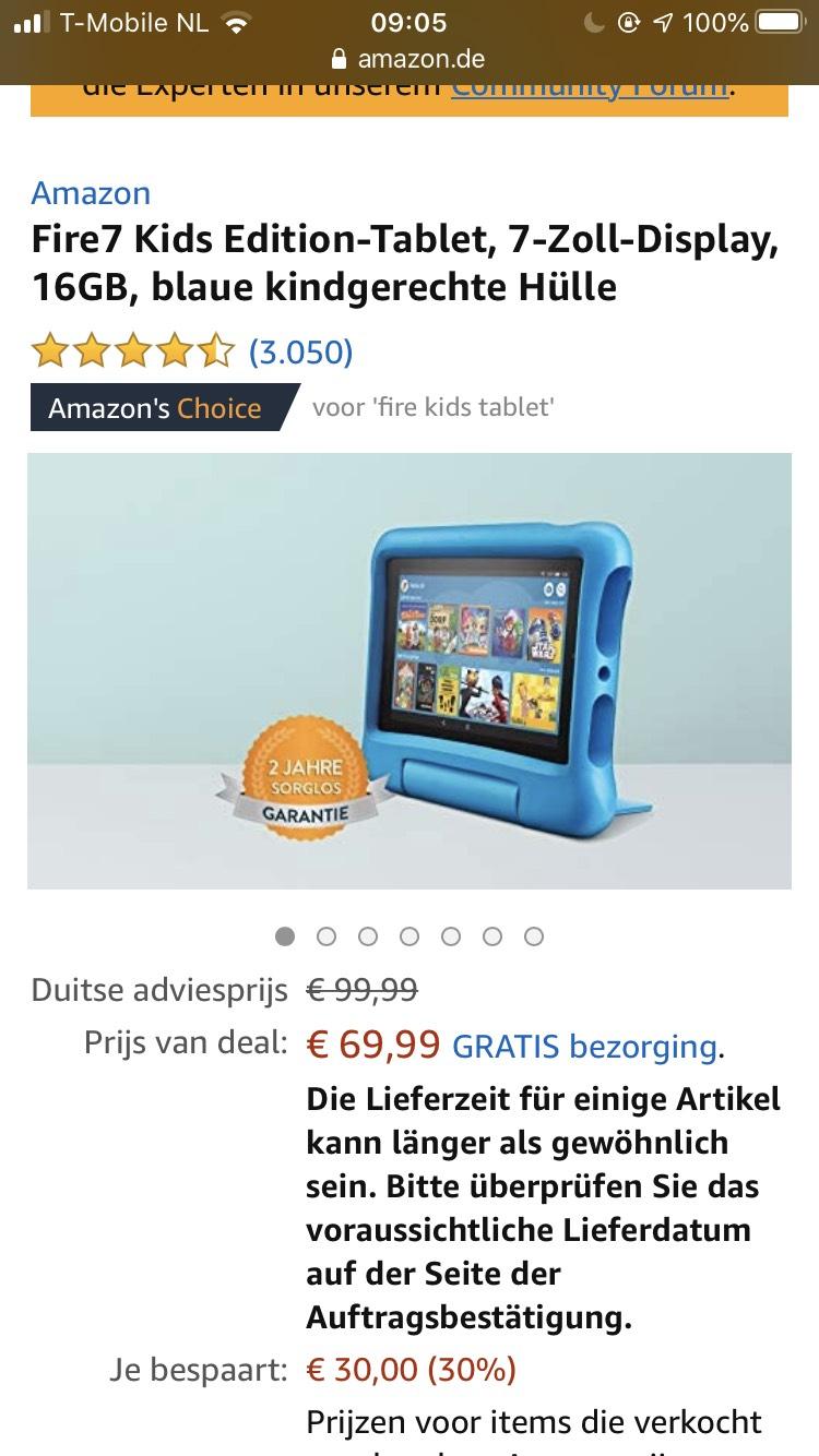 Fire 7 kids hd Amazon tablet