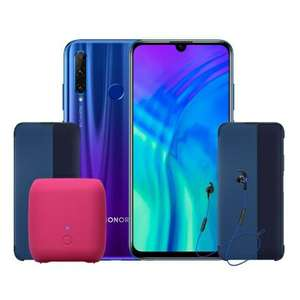 Honor 20 Lite 4GB/128GB Smartphone + AM61 Bluetooth Headset + Flipcover