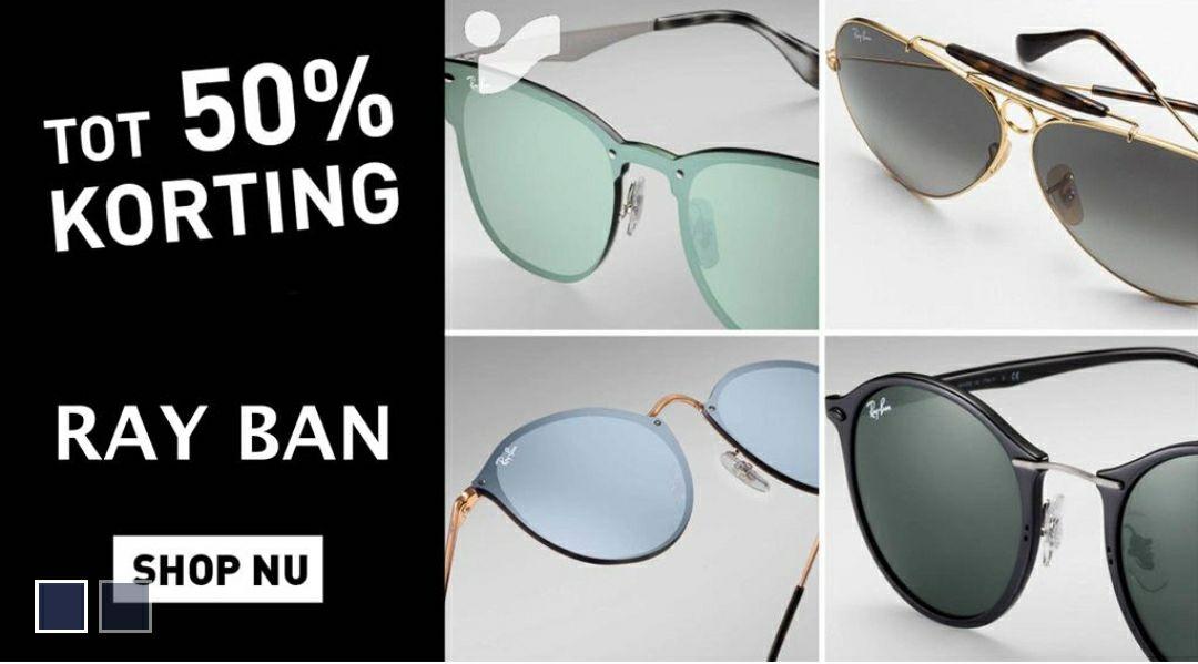 Tot 50% korting op Ray-Ban zonnebrillen.