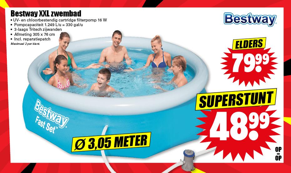 Dirk: Bestway Fast Set Zwembad (Ø305 x 76 cm) (op=op)