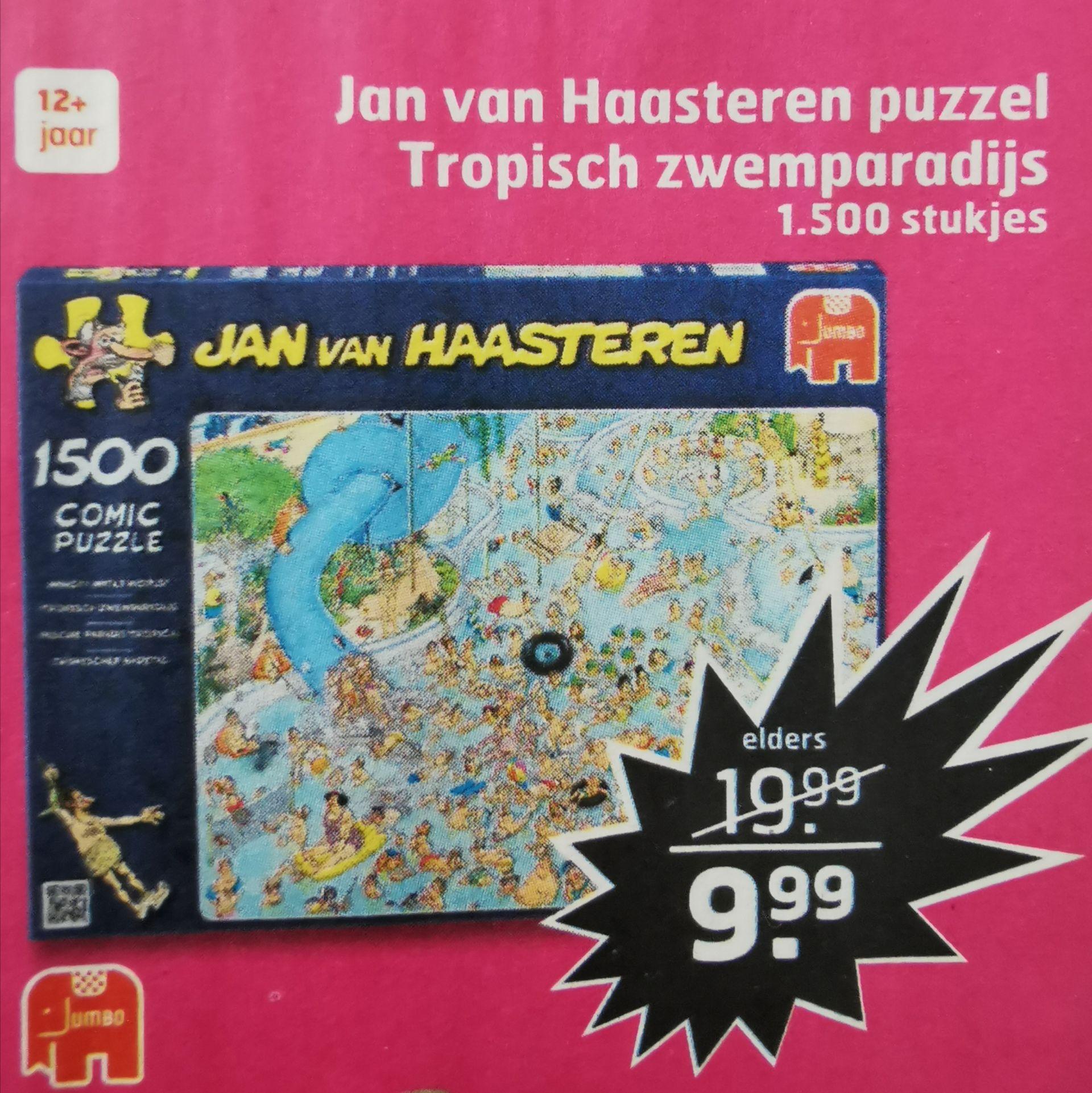 Puzzel Jan van Haasteren Tropisch Zwemparadijs 1500 stukjes @ Trekpleister