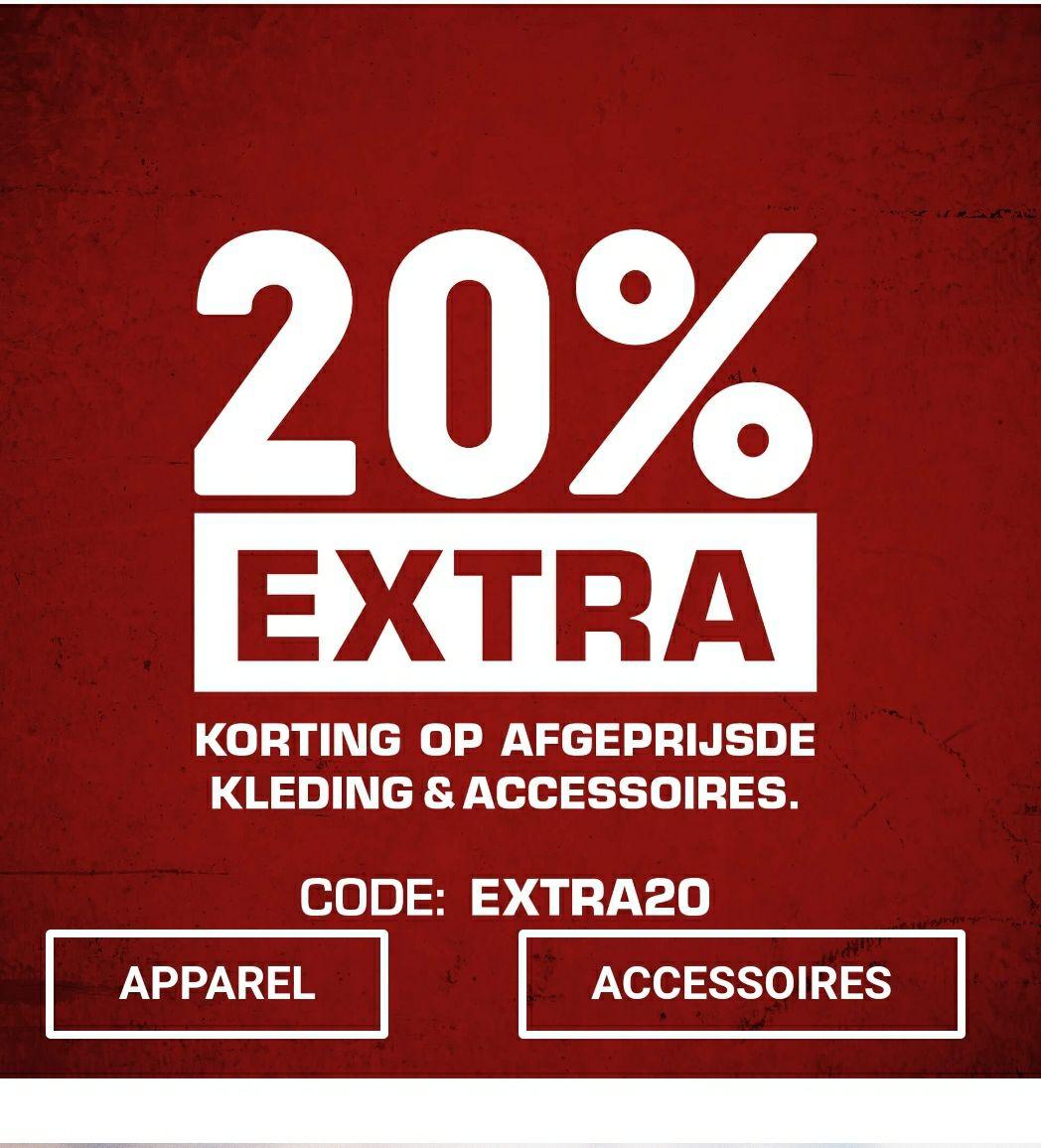 20% extra korting bovenop de sale