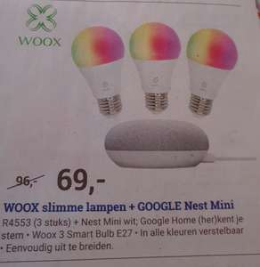 Woox sfeerverlichting Smart Bulb + Nest Mini