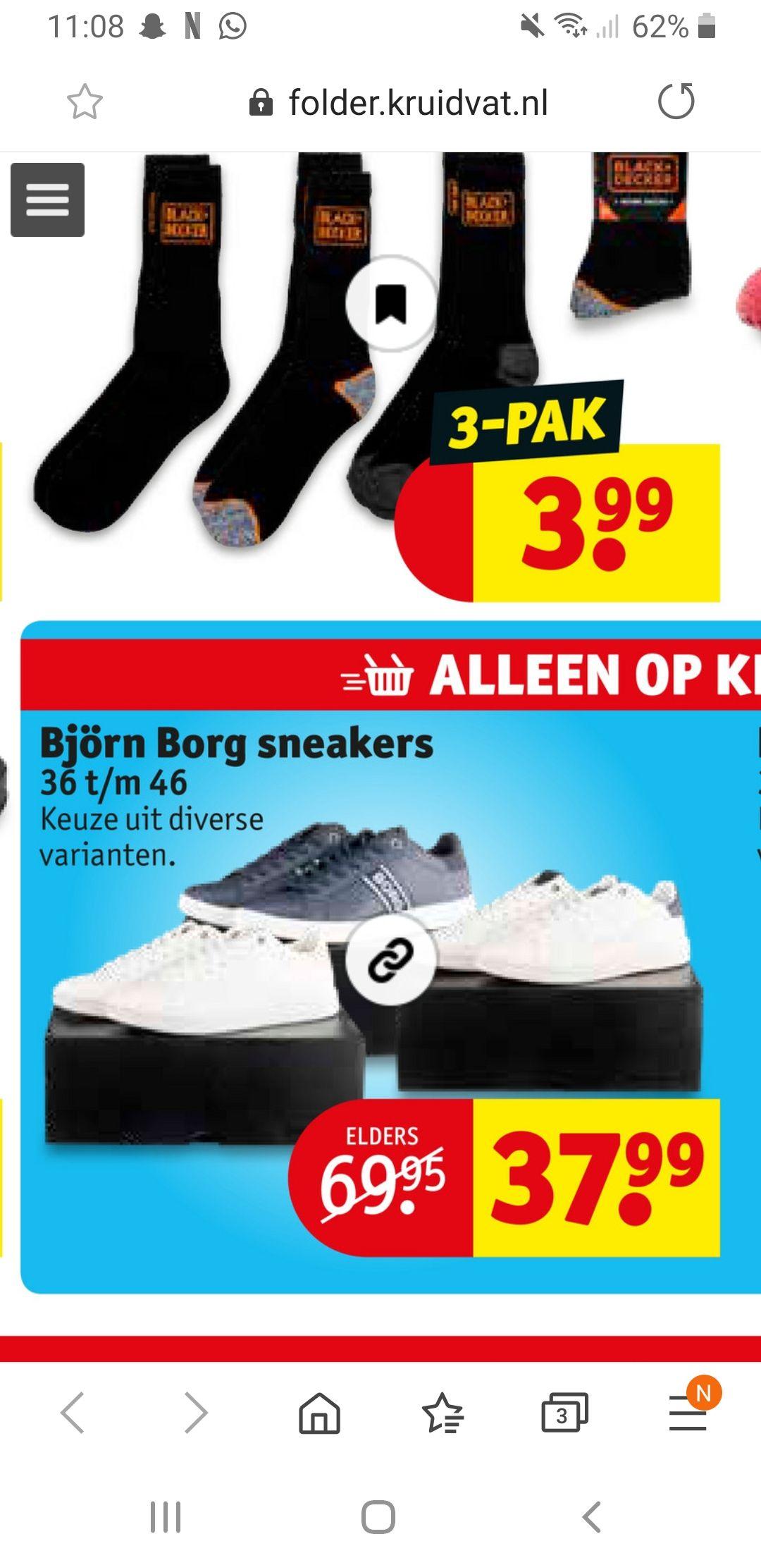 Bjorn borg sneakers voor €37.99