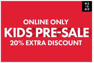 20% EXTRA korting op kids sale @ We Fashion (voor members)