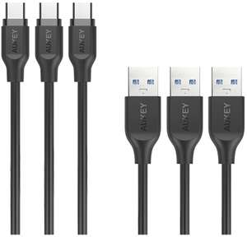 Aukey USB-C 3.0A kabel (3 x 1m)