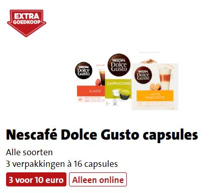 3x Dolce Gusto voor €10 (Alleen online)