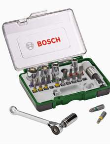 Bosch schroefbit & ratelset 27-delig @ Amazon.de