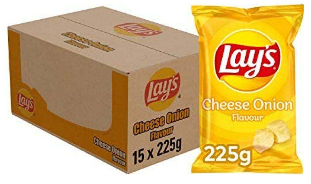Lay's Cheese Onion 225g, 15 zakken