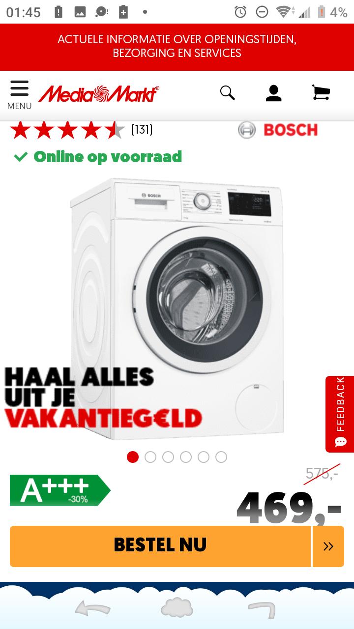Bosch WAT28542NL 8kg wasmachine
