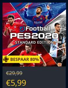 eFootball PES 2020 Standard Edition PS+ (Legend Edition - €7,99) @ PSN