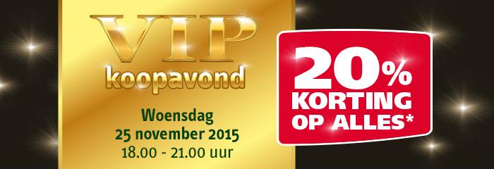 Woensdag V.I.P avond @ Welkoop 18.00-21.00