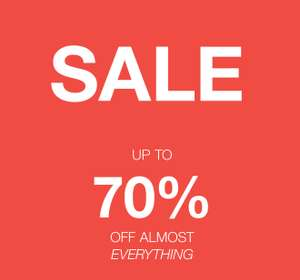Veel sale -70% - dames / heren / kids @ Boozt