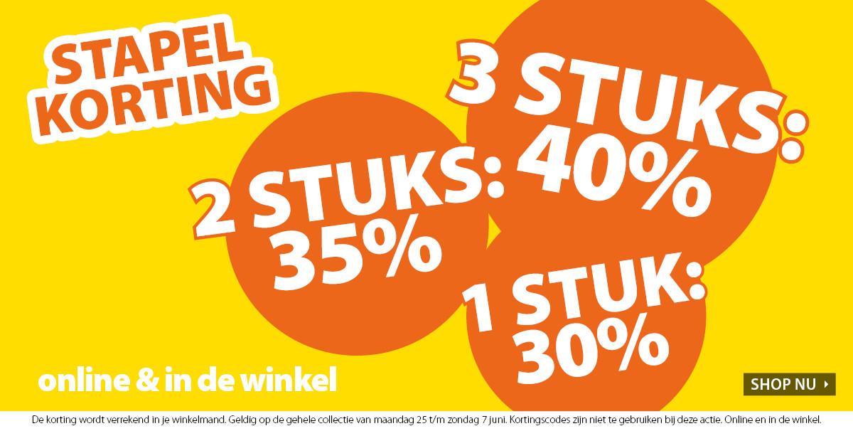 Stapelkorting: -30% // -35% // -40% @ terStal