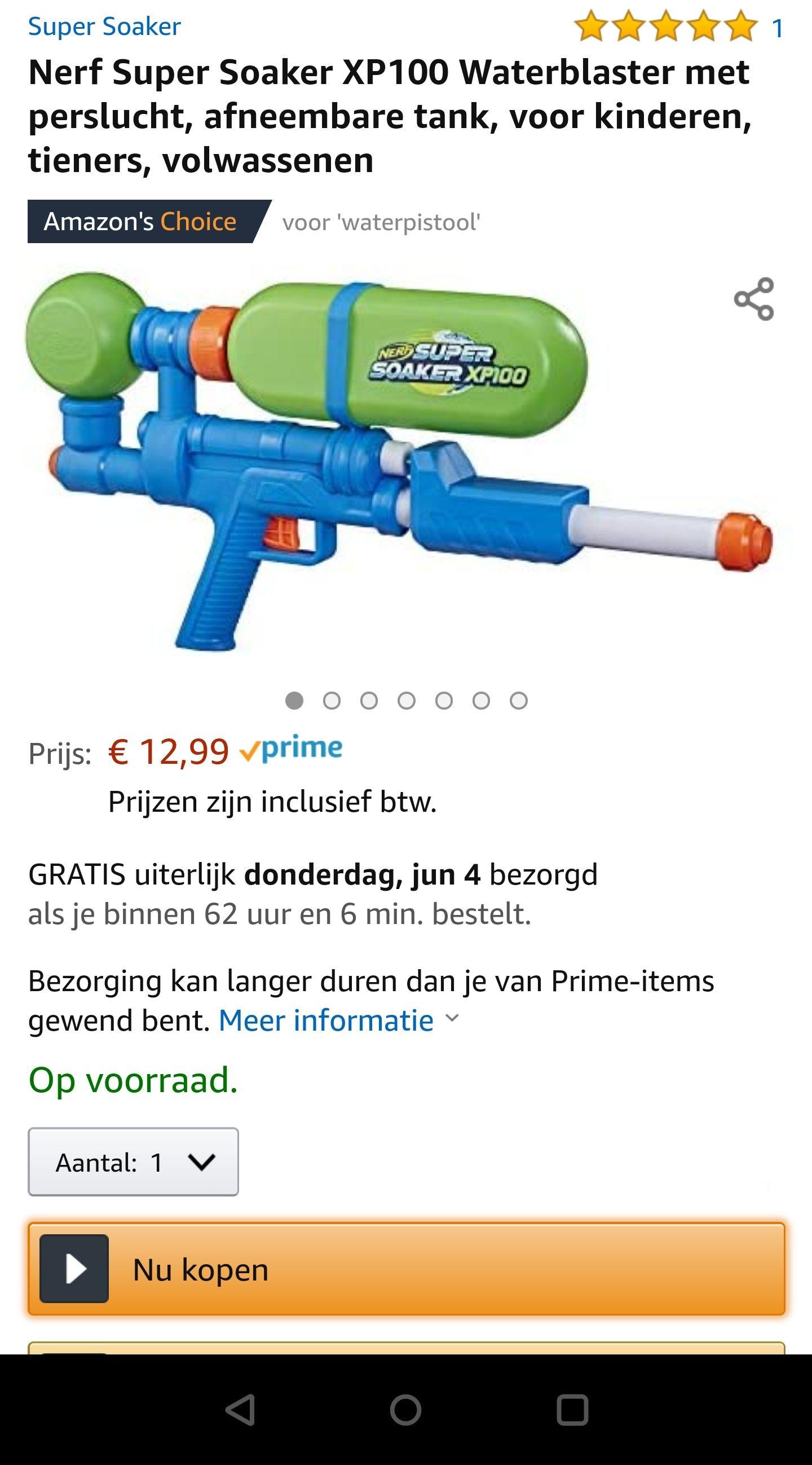 Nerf Super Soaker XP100 bij Amazon.nl