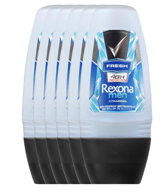 6x Rexona Men Fresh Xtra Cool - 50 ml deodorant roller @ Bol.com