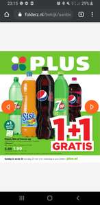1 plus 1 gratis op Pepsi, Seven Up of Sisi @Plus