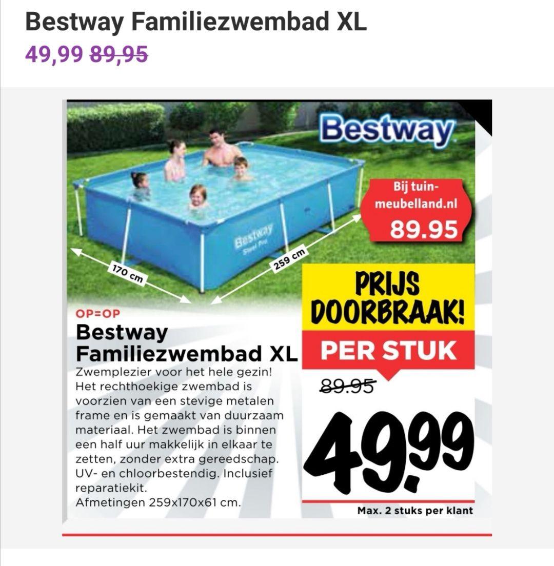Bestway opzet zwembad 259 x 170 x 61 @ Vomar