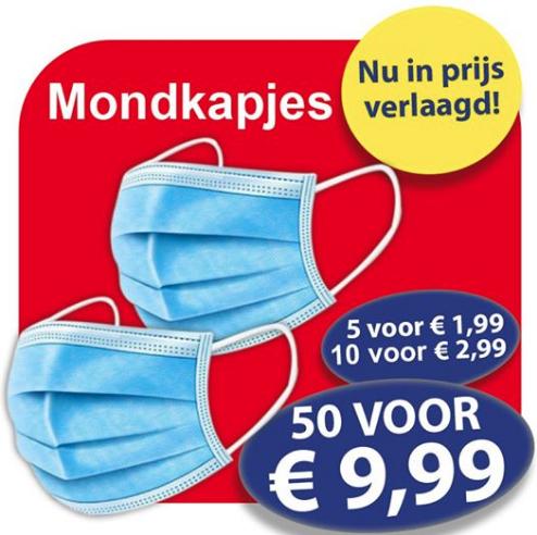 Die grenze, Mondkapjes 50 stuks voor €9,99! (Ook online te bestellen)