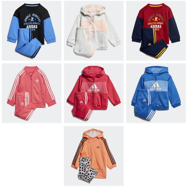 Baby trainingspakken Adidas outletprijs + 30% extra korting @ Adidas