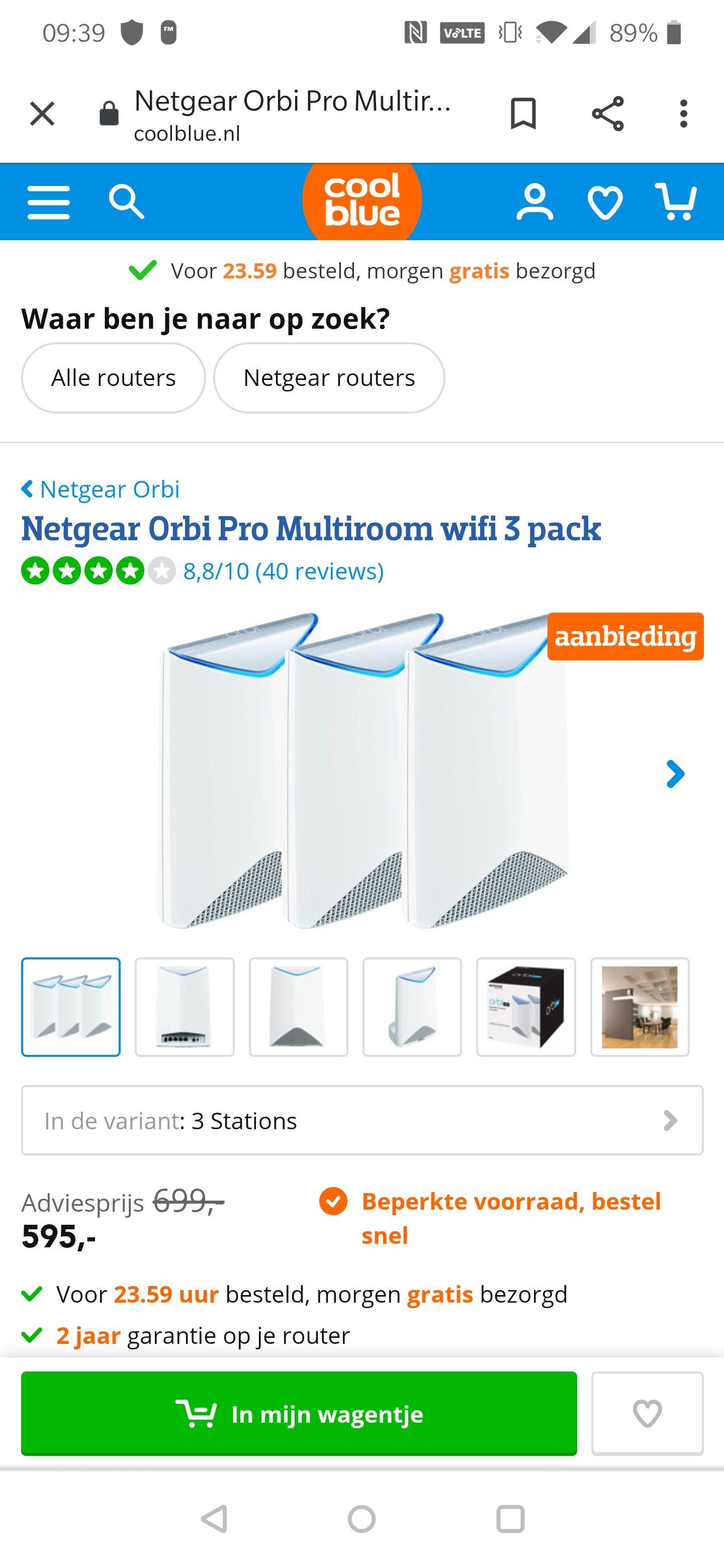 Netgear Orbi Pro Multiroom wifi 3 pack