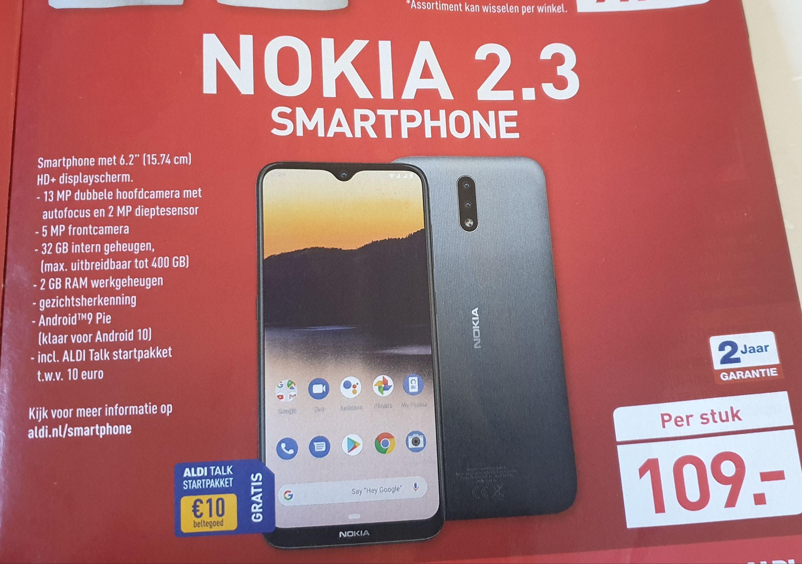 Nokia 2.3 bij Aldi vanaf 06 juni