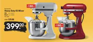 KitchenAid Artisan Heavy Duty K5 Mixer wit/rood @Sligro