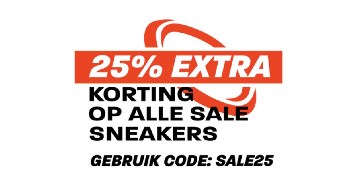 Sneakerbaas.nl 25% extra korting op Sale