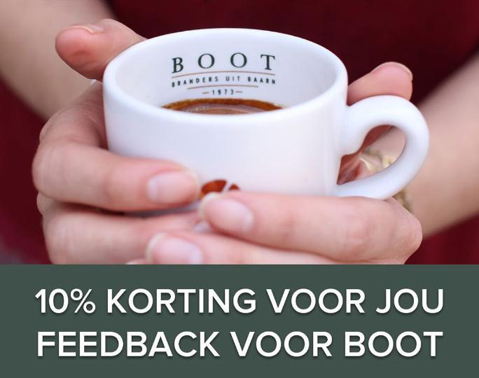 10% korting op je bestelling bij Boot Koffie