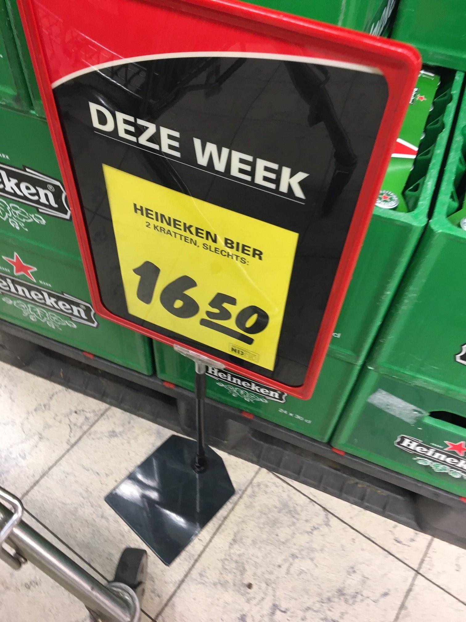 [LOKAAL] 2 kratten Heineken 24x 0,33cl @nettorama Dordrecht