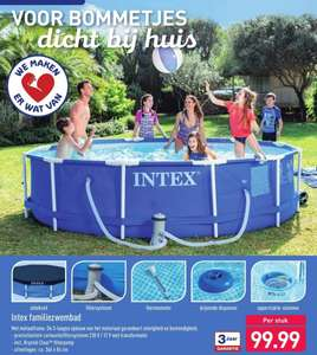 Compleet Intex zwembad 366 x 84 cm @Aldi