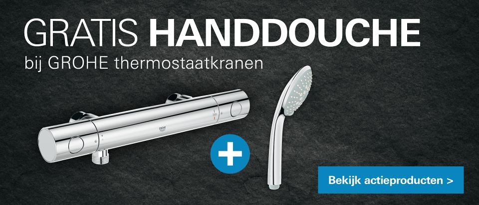 Gratis handdouche bij Grohe thermostaatkraan