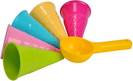 Plastic vormen voor zandbak-ijsjes