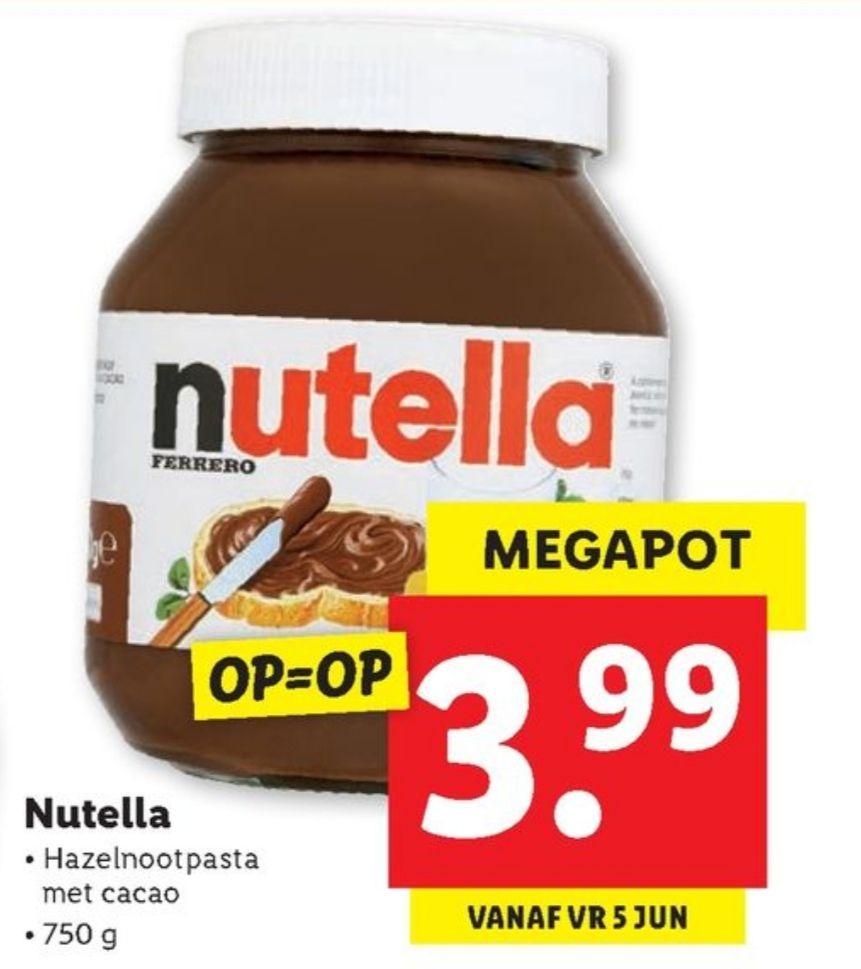 Nutella 750 gram @ Lidl