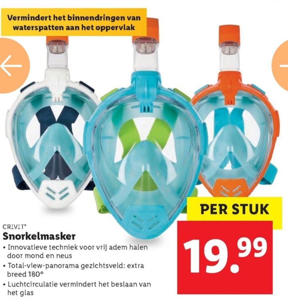 Snorkelmasker voor 19,99 @ Lidl