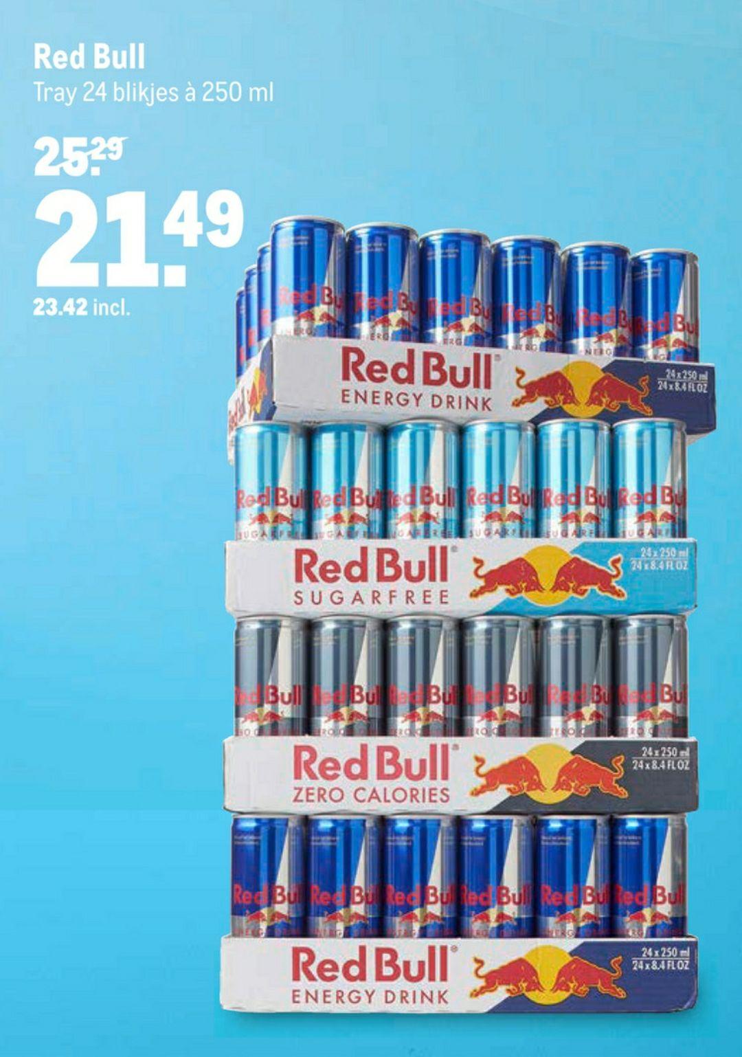 24 red bull blikjes voor €23,42 bij Makro