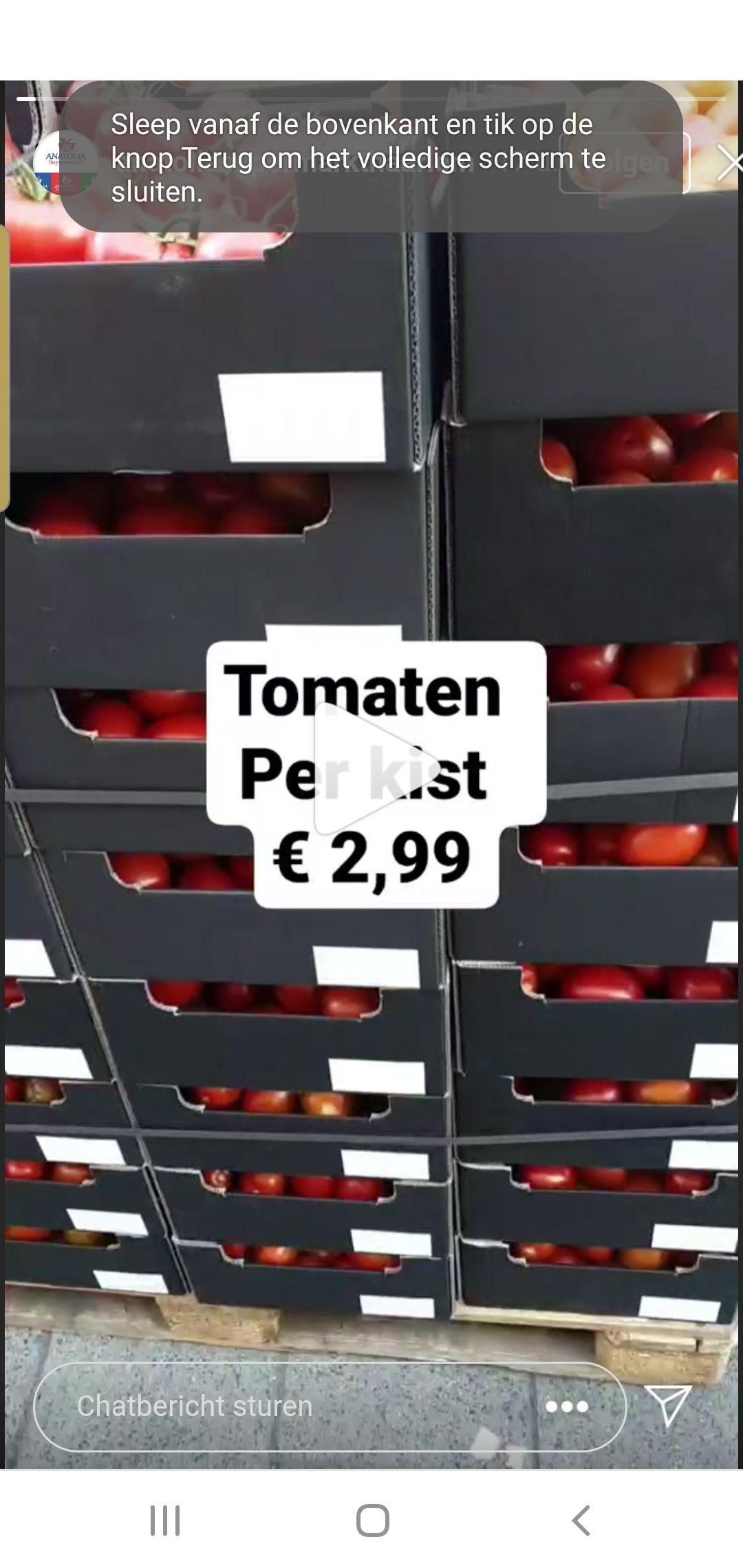 Lokaal haarlem anatolia supermarkt kist tomaten wss 5 kilo 3 euro