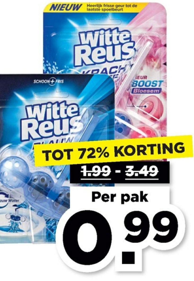 Witte Reus Toiletblokken €0,99 @Plus